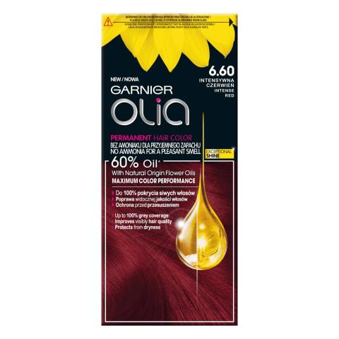 Plaukų dažai GARNIER OLIA 6.60 Intense Red