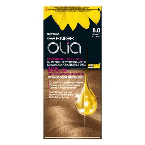 Plaukų dažai GARNIER OLIA 8.0 Blonde