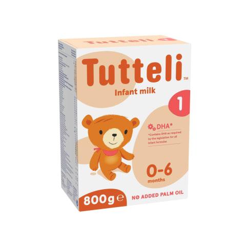 Piena formula Tutteli 1 no dzimšanas 800g