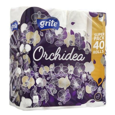 Tualetinis pop. GRITE ORCHIDEA, 40rit., 3sl.