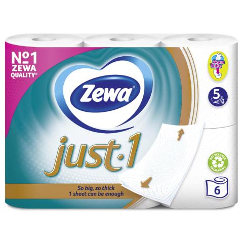 Tualetes papīrs Zewa Just1 6 ruļļi