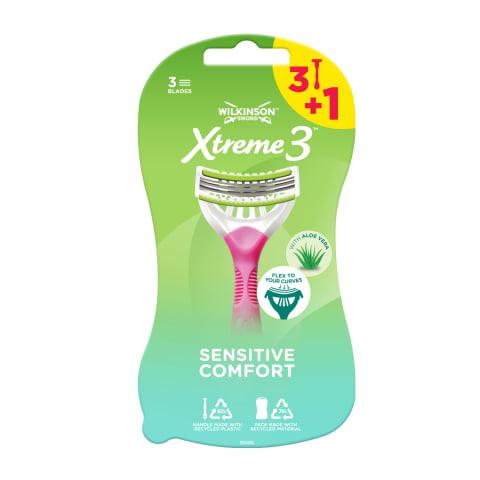 Skuvekļi Wilkinson Xtreme3 Beauty 3+1gab