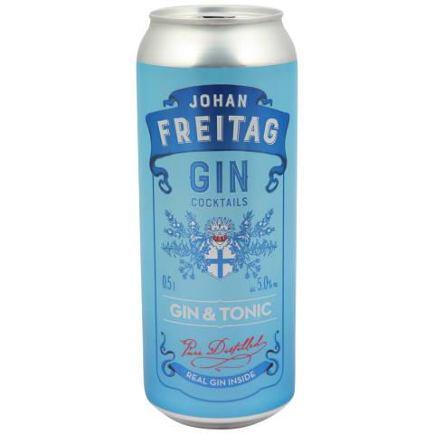 Alk. kokt. John Freitag Gin&Tonic 5% 0,5l