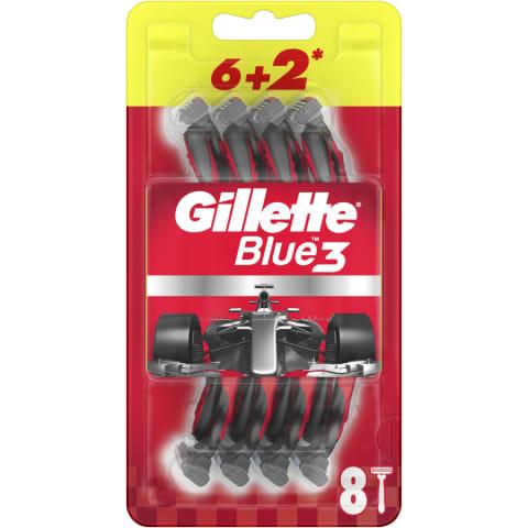 Vienr.sk.Gillette BLUE 3 Red 6+2 gab.