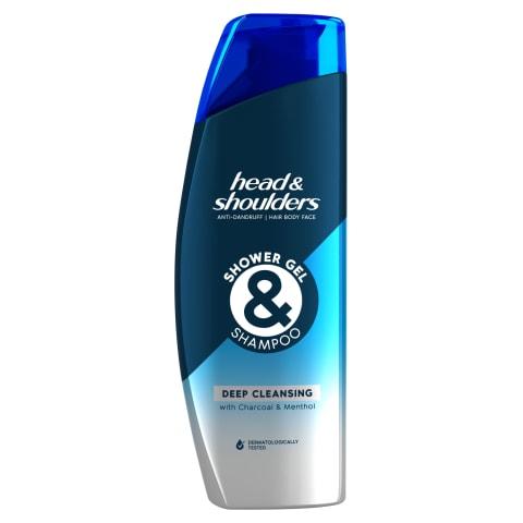 Šampūns un dušas žel. H&S Deep Clean. 270ml