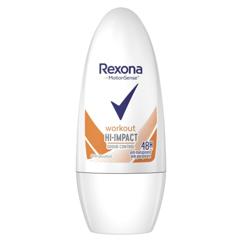 Dezodorants Rexona Workout Roll on siev. 50ml