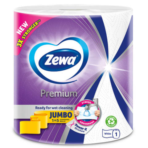 Papīra dvielis Zewa Jumbo Premium, 1 gab,230s