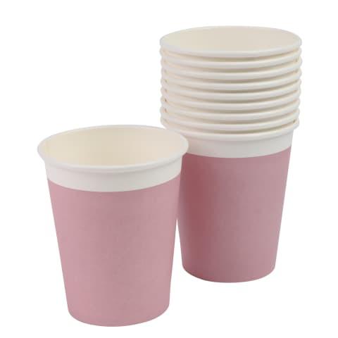 Pop. puodeliai RIMI 240ml rožiniai 10vnt