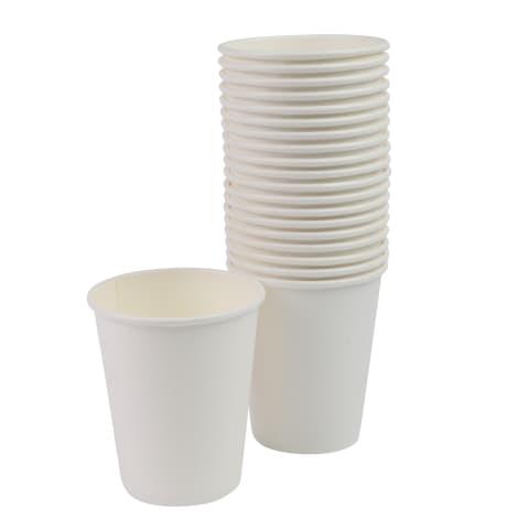 Papīra krūzes RIMI 240ml baltas 40gb