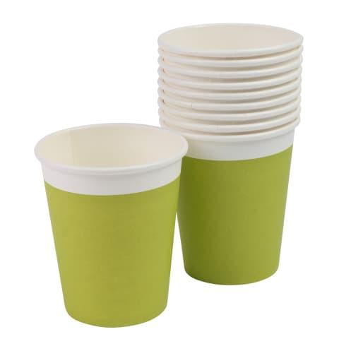 Papīra krūzes RIMI 240ml zaļas 10gb