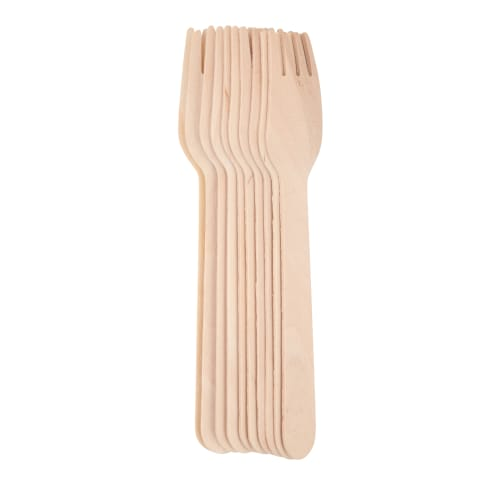 Medinės šakutės RIMI BASIC 15,5cm 10 vnt