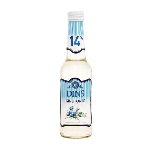 Alkohol. kokteilis Dins Gin & Tonic 14% 0,25l