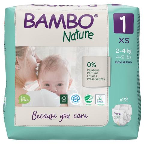 Sauskelnės BAMBO 1 2-4 kg, 22 vnt