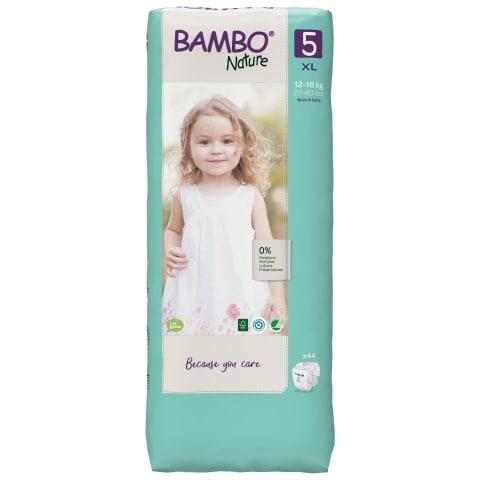 Sauskelnės BAMBO 5 12-18 kg, 44 vnt