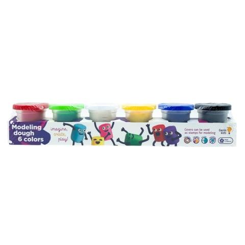 Plastilīna masa Genio kids 6 krāsas
