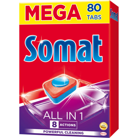 Nõudepesumasina tabletid Somat Allin1 80