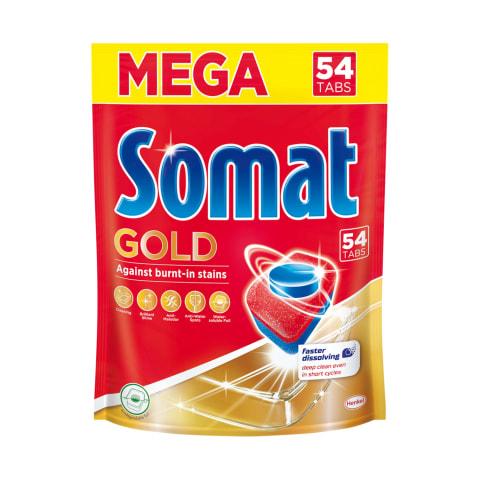 Trauku mašīnas tabletes Somat Gold 54gab