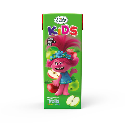 Sula Cido Kids Trolls ābolu nektārs 0,2l
