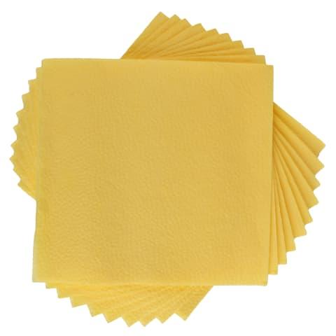 Salvetes gaiši dzeltenas 33x33 50gab