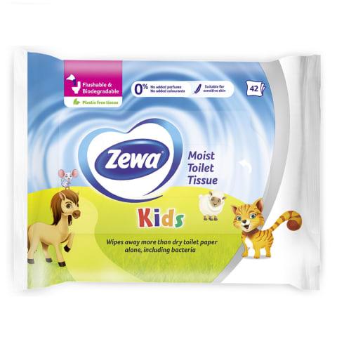 Mitrais tual. papīrs Zewa Kids, 42 gab