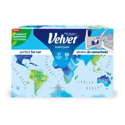Salvrätik Velvet Travel 3 kihti 50tk