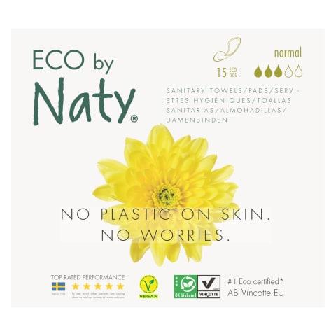Higien. paketai ECO by Naty Normal, 15