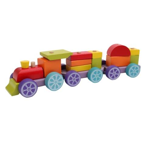 Žaislas medinis traukinukas CUBIKA