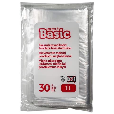 Saldēšanas maisiņi Rimi basic 1l,30gab