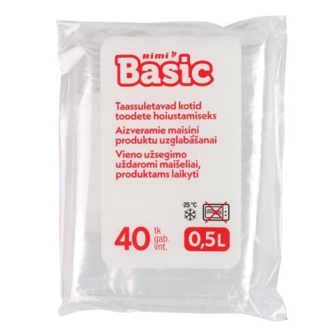 Saldēšanas maisiņi Rimi basic 0,5l,40gab