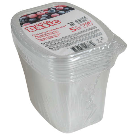Vienk. šaldymo indai RIMI BASIC 0,75l, 5vnt