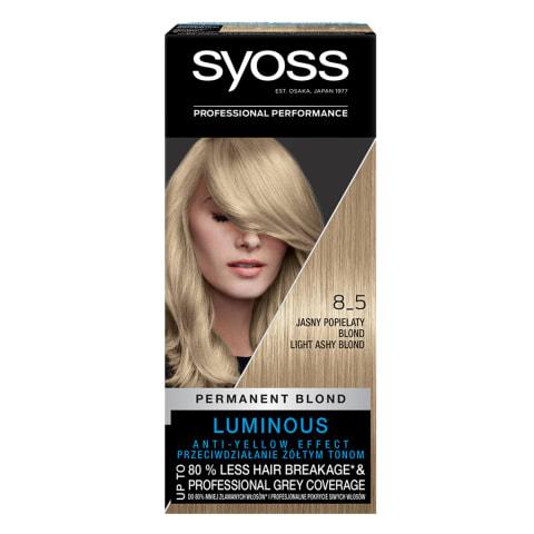 Plaukų dažai SYOSS 8-5 lab. švies. pelen.
