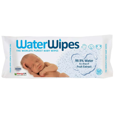 Drėgn.servet.kūdikiams WATER WIPES,60vnt