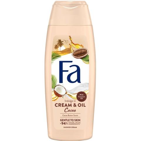 Dušigeel Fa Cream&Oil kakao ja kookose 250ml