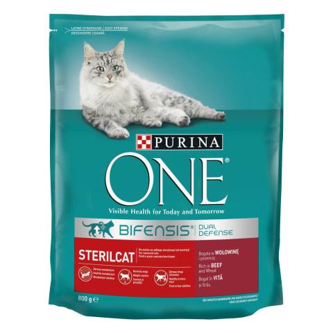 Sausas kačių ėdalas steril. katėms ONE, 800 g