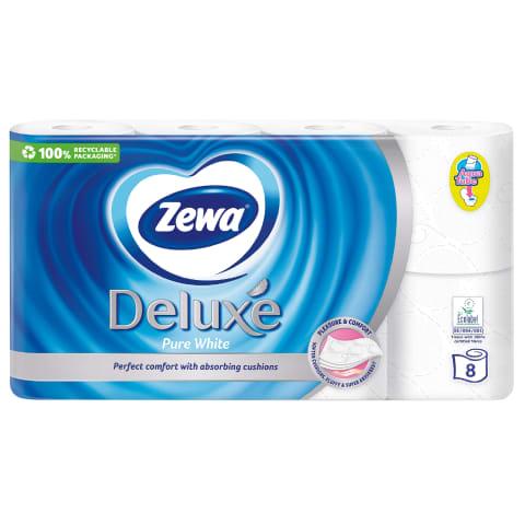 Tual.popier.ZEWA DELUXE Pure WHITE,3sl.,8rit.