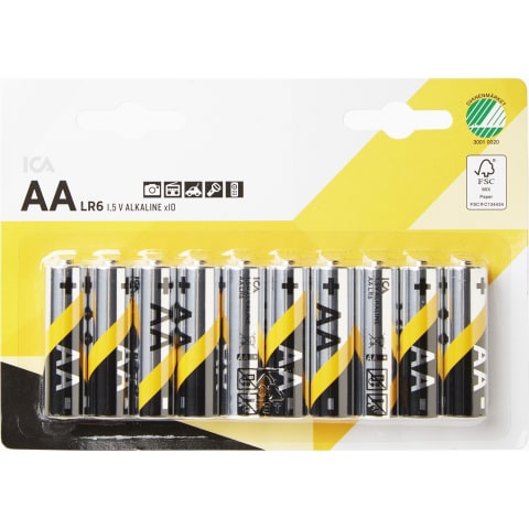 Baterija ICA HOME LR06 AA, 10 vnt.