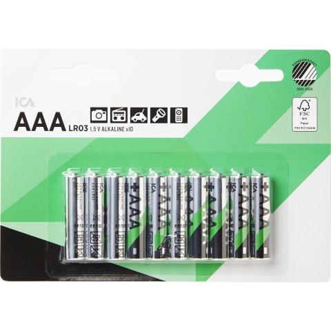 Baterija ICA HOME LR03 AAA, 10 vnt.