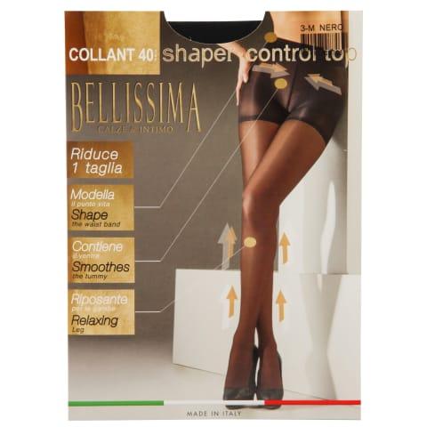S.zeķu.Bellissima Control Top 40 nero 3