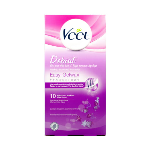 Vahaplaaster Veet Cold Wax Debut 10tk