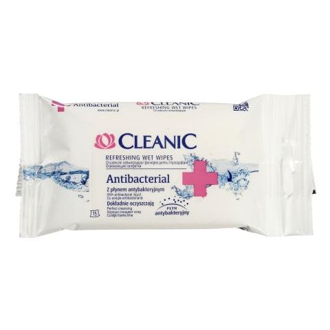 Mitrās salvetes Cleanic Aniseptic 15gab.