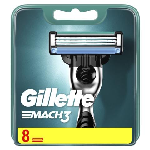 Skūšanās kasetes Gillette Mach3 8 gab.