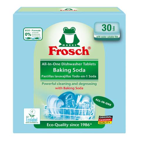 Indaplovių tabletės FROSCH SODA, 30 vnt.