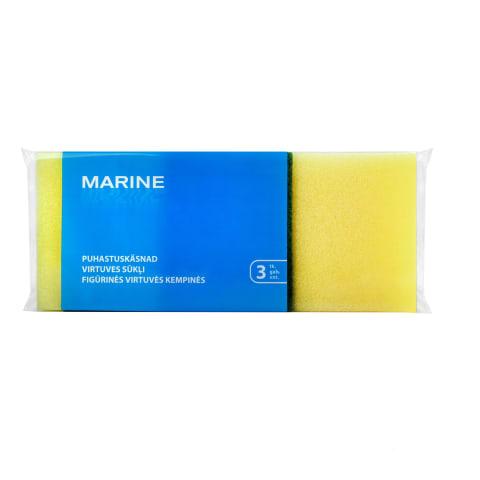 Tīrāmie sūkļi Marine 3 gab 7x8,5x4,5cm