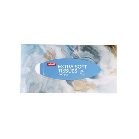 Kosmetinės servetėlės RIMI, 4sl., 100vnt.