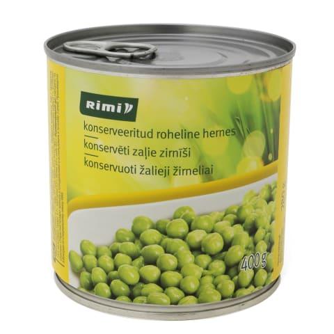 Konservuoti žalieji žirneliai RIMI, 400 g