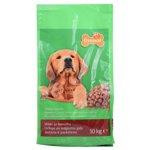 Suņu barība Grrreat liellopa 10kg
