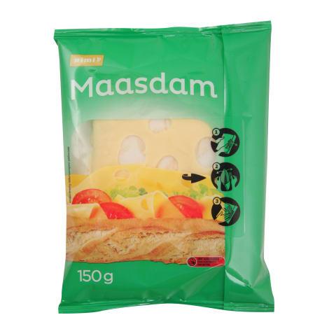 Pjaustytas RIMI sūris MAASDAM, 150g