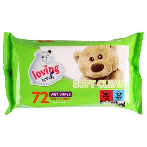 Mitrās salvetes Loving touch 72gab.
