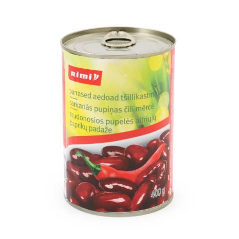 Aedoad punased tšillikastmes Rimi 400g/200g
