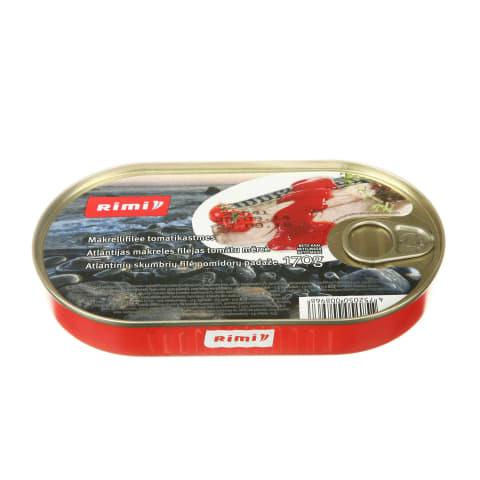 Atl. skumbrių filė pomidorų padaže RIMI, 170g